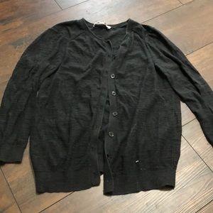 Black LOFT Button Down Cardigan
